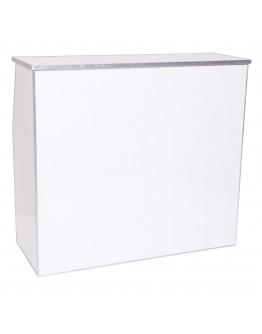 4 Foot Portable Bar, White