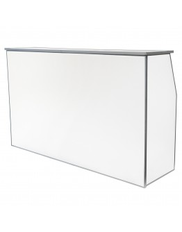 6 Foot Portable Bar, White