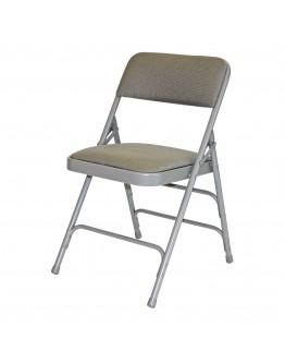 Rhino™ Metal Folding Chair, Fabric Grey Seat