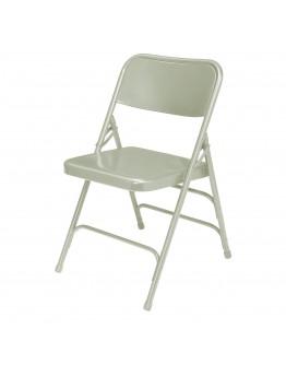 Rhino™ Metal Folding Chair, Grey