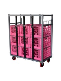 Glassware & Dishware Rack Dolly Cart