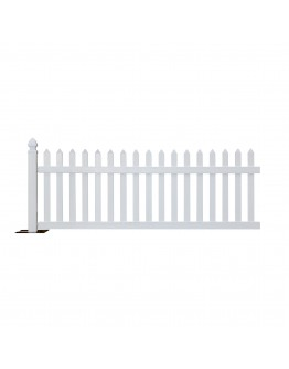 10 Foot Rhino™ Portable Vinyl Picket Fence Kit, White