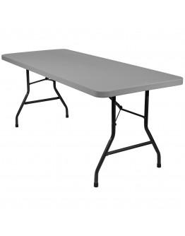 6 Foot Banquet Plastic Blow Mold Folding Table