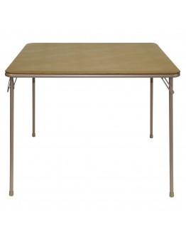"""38"""" Square Folding Card and Game Table, Wheelchair Accessible, Beige"""
