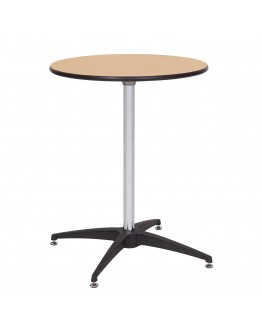 24 Inch Round Wood Cocktail Table Kit, Metal Edging