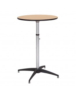 24 Inch Round Wood Cocktail Table Kit, Adjustable Post Heights