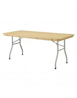 6 Foot Rhino™ Banquet Resin Folding Table, Tan