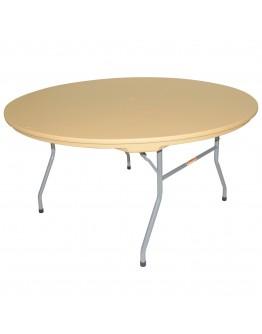 60 Inch Rhino™ Round Resin Folding Table, Tan