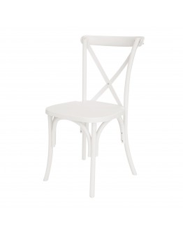 Lucca X-Back Resin Chair, White