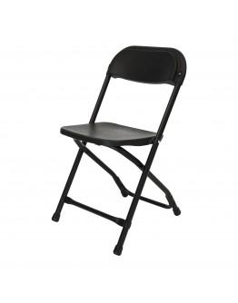 Rhino™ Children's Plastic Folding Chair, Black