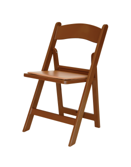 Resin Folding Chair, Brown