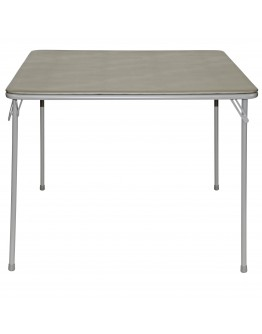 "38"" Square Folding Card and Game Table, Wheelchair Accessible, Gray"