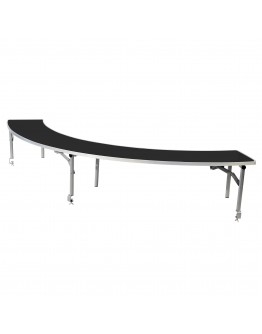 5 Foot Serpentine Portable Wood Bar Top Riser, Black Laminate