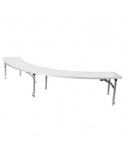 5 Foot Serpentine Portable Wood Bar Top Riser, White Laminate