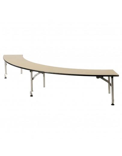 5 Foot Serpentine Portable Wood Bar Top Riser, Metal Edging