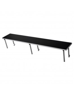 6 Foot Rectangle Portable Wood Bar Top Riser, Black Laminate