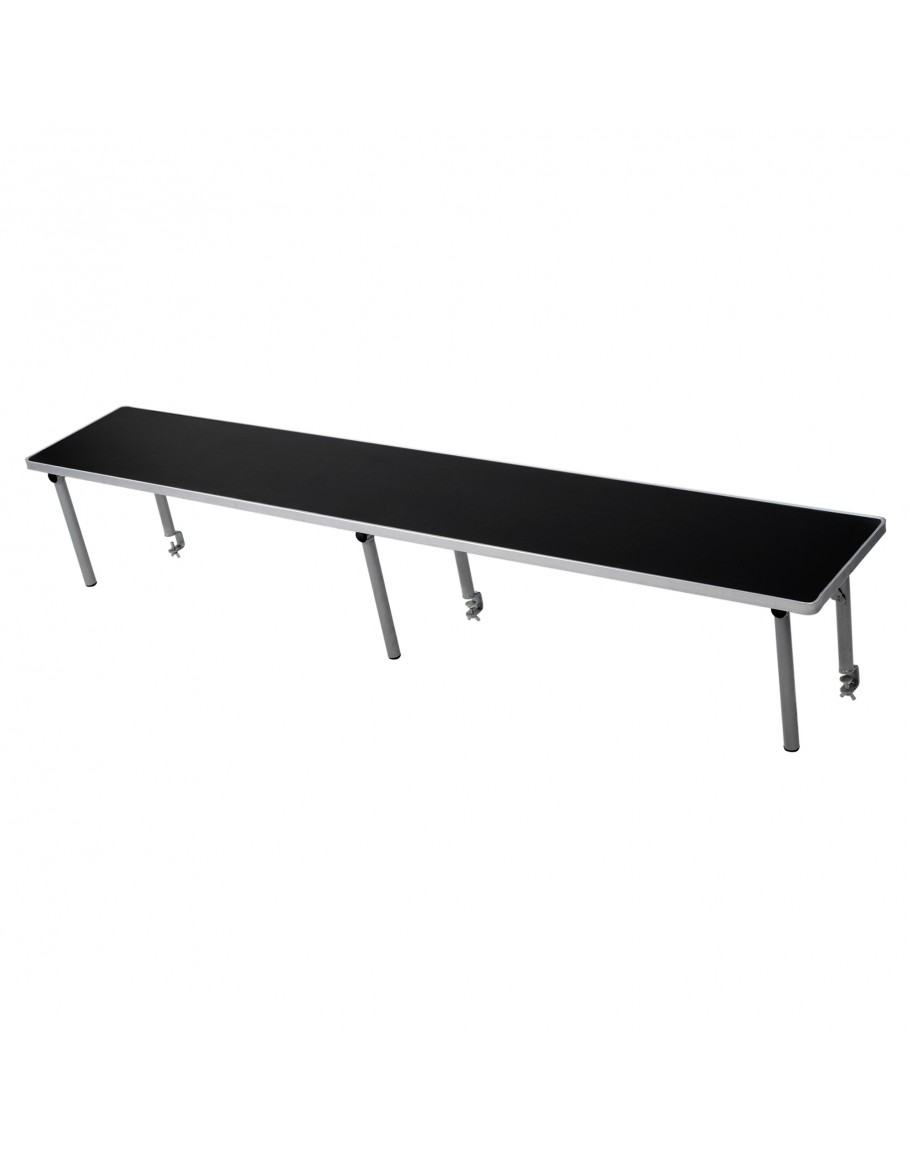 Charmant 8 Foot Rectangle Portable Wood Bar Top Riser, Black Laminate