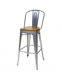 engrom Metal Bar Chair, Gunmetal Grey