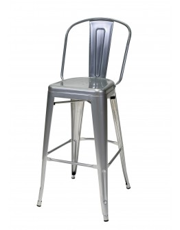 engrom Metal Bar Chair, Gunmetal Grey