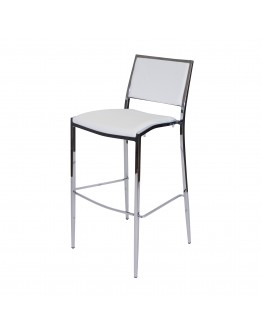Bella Bar Chair, White