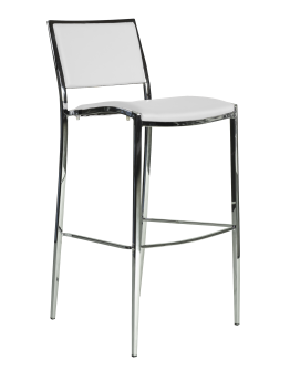 Bella Bar Chair, White
