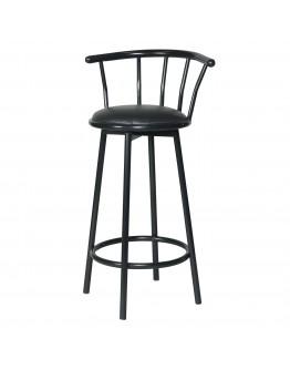 Swivel Metal Bar Chair, Black