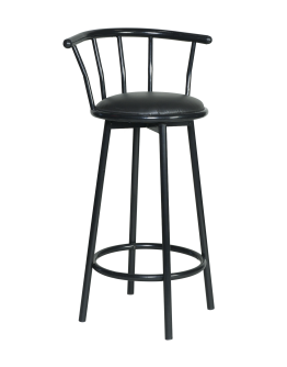 Swivel Metal Bar Chair, Black