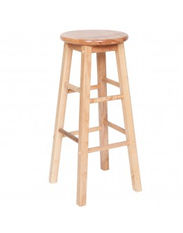 Wood Bar Stool, Natural