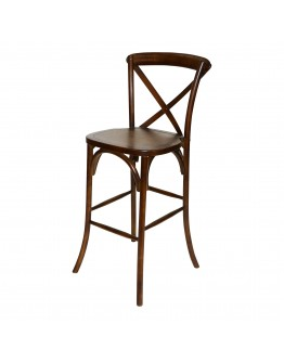 Lucca X-Back Wood Bar Chair, Antique