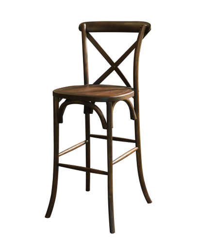 Lucca X Back Wood Bar Chair Antique