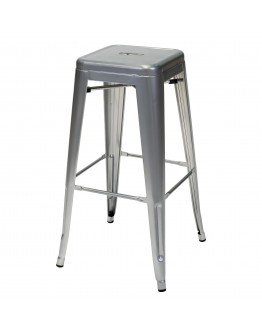engrom Metal Bar Stool, Gunmetal Grey