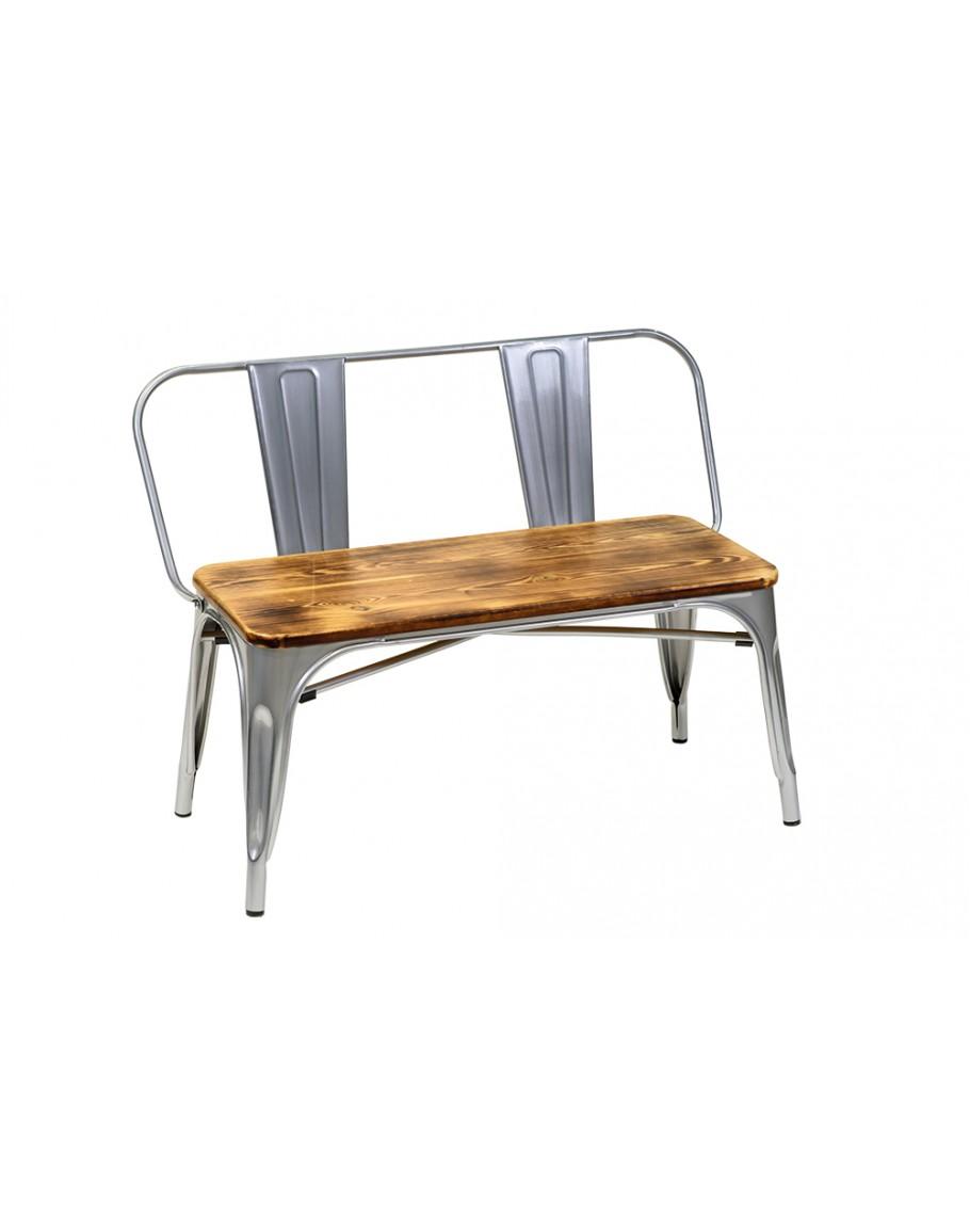 Super Engrom Metal Bench Set Gunmetal Grey Machost Co Dining Chair Design Ideas Machostcouk
