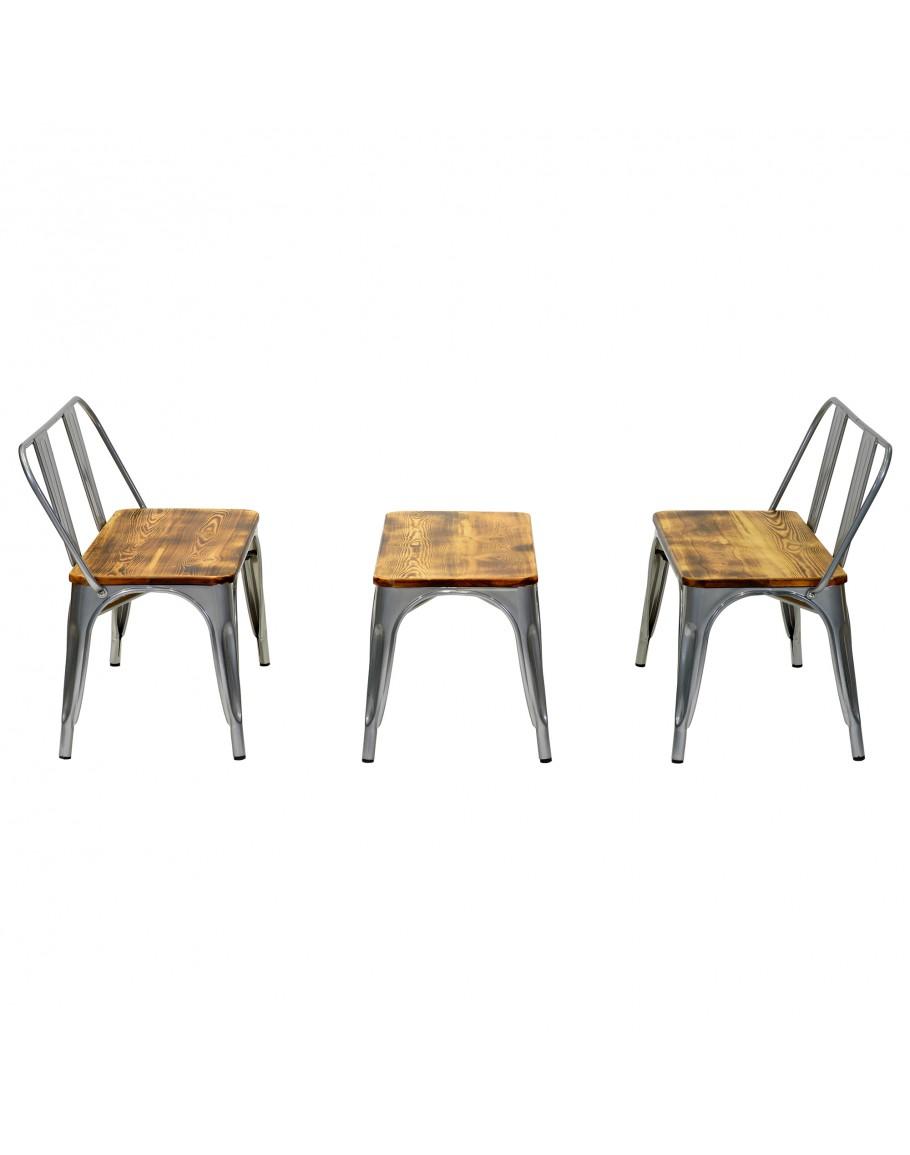 Fine Engrom Metal Bench Set Gunmetal Grey Machost Co Dining Chair Design Ideas Machostcouk