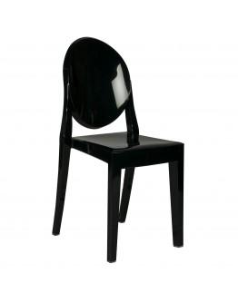 Phantom Resin Chair, no Arms, Black