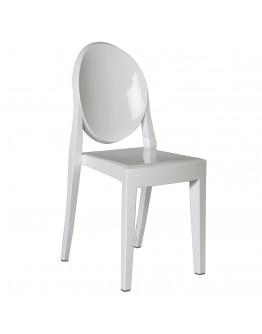 Phantom Resin Chair, no Arms, White
