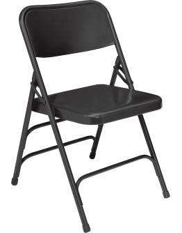 Premium Metal Folding Chair, Black