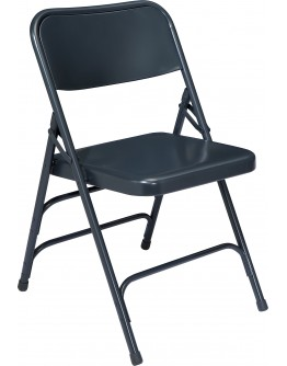 Premium Metal Folding Chair, Blue