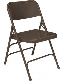 Premium Metal Folding Chair, Brown