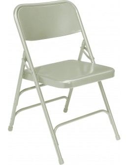 Premium Metal Folding Chair, Grey