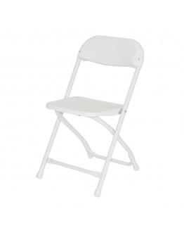 Rhino™ Children's Plastic Folding Chair, White