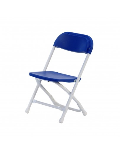 Rhino™ Children's Plastic Folding Chair, Blue