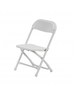 Rhino™ Children's Plastic Folding Chair, White