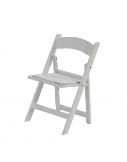 Children's Resin Folding Chair, White