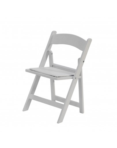 Children's Resin Folding Chair, White