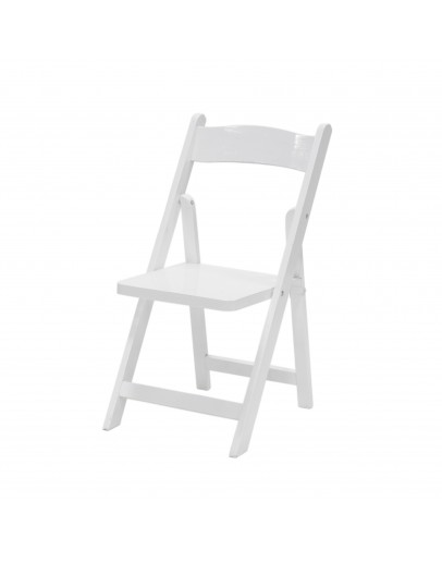 Children's Wood Folding Chair, White
