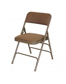 Rhino™ Metal Folding Chair, Fabric Beige Seat