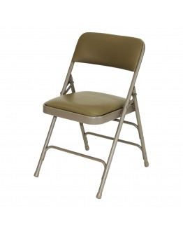 Rhino™ Metal Folding Chair, Vinyl Beige Seat