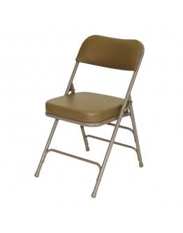 "Rhino™ Metal Folding Chair, 2"" Vinyl Beige Seat"