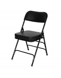 "Rhino™ Metal Folding Chair, 2"" Vinyl Black Seat"
