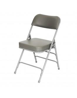 "Rhino™ Metal Folding Chair, 2"" Vinyl Grey Seat"